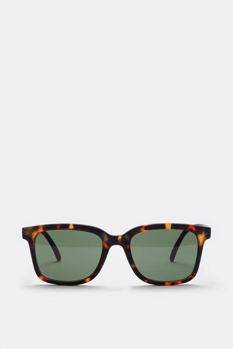 Sonnenbrille '#L Sun' dunkelbraun gemustert/grün