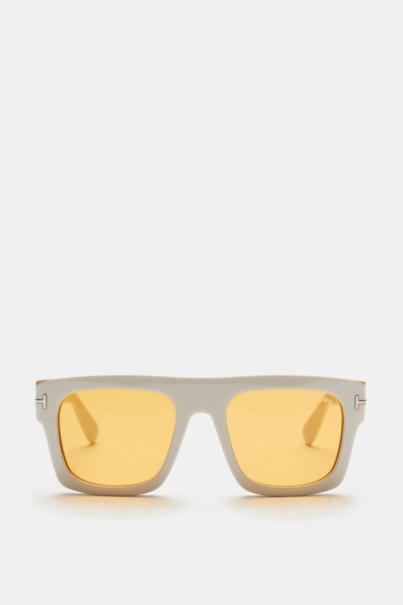 Sonnenbrille 'Fausto' offwhite/gelb