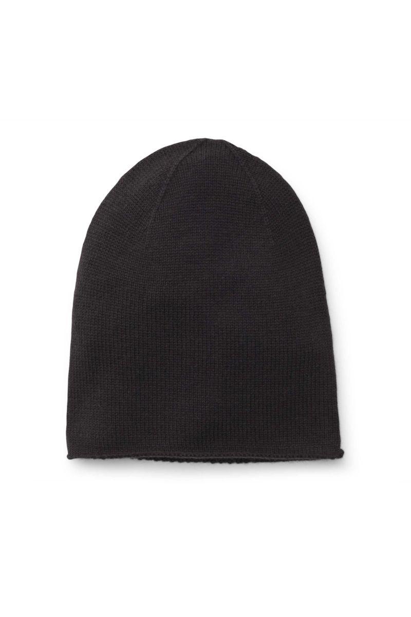 Kinder Cashmere Mütze dunkelgrau