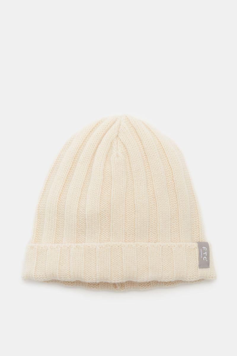 Cashmere Mütze creme